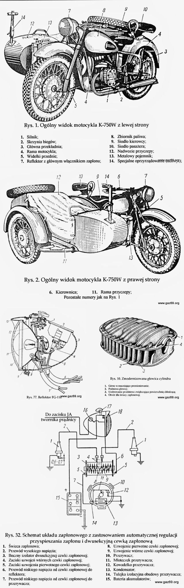 Gaz 69 Ural Engine Diagram Modernised Head Rys 77 A Longer Headlight Used In Later Models 32 Of The Ignition System With Dual